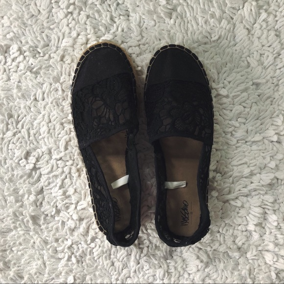 Mossimo Supply Co. Shoes - Black Lace Espadrilles Barely Worn!!!